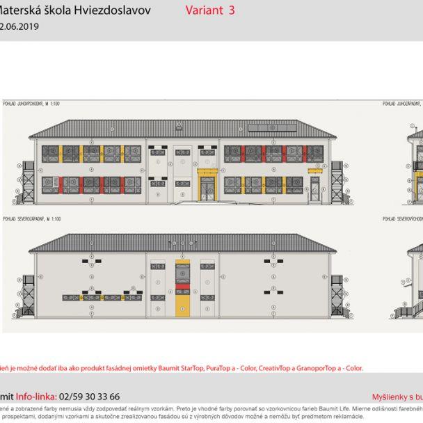 Návrh fasády MŠ