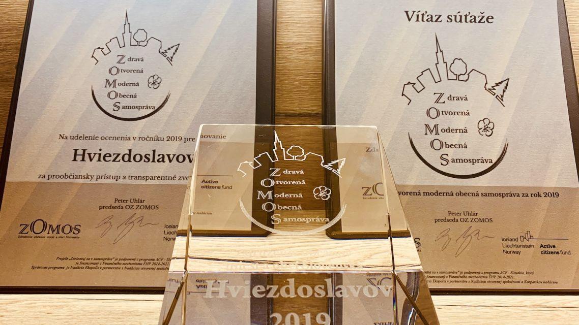 Po roku opäť nominácia na Cenu pre otvorenú samosprávu!