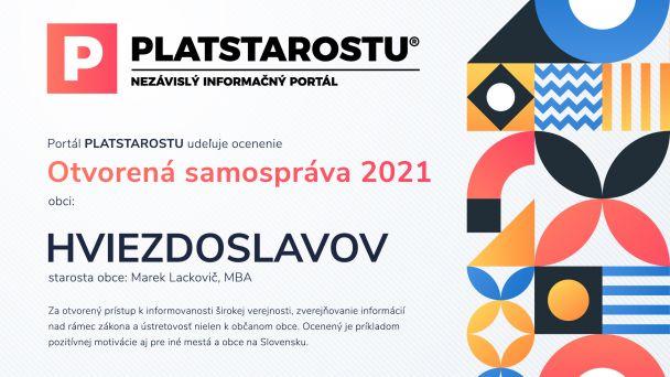 Hviezdoslavov tretí rok po sebe opäť ocenený…